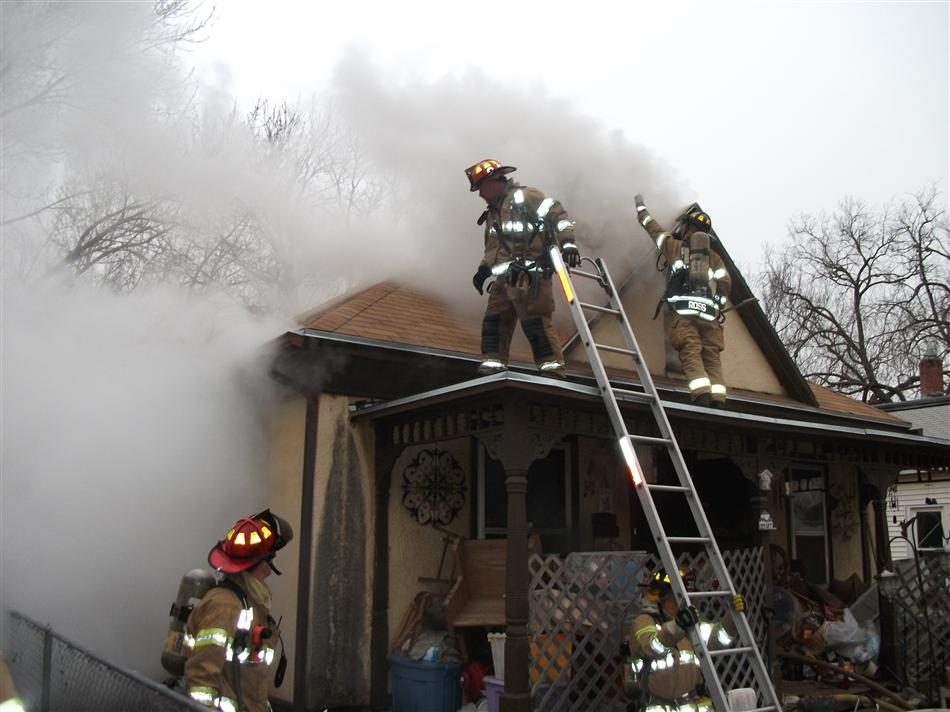 Firefighters on Scene  at Structure Fire on Adams Street